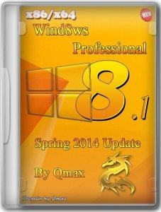 Windows 8.1 Professional x86/x64 Spring 2014 Update by Qmax® 2DVD [Ru]