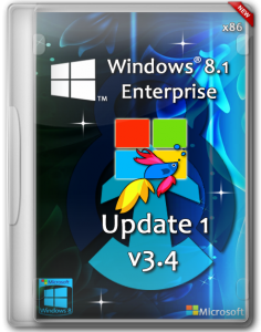 Windows 8.1 Enterprise Update 1 by D1mka v3.4 (x86) (2014) [Rus]
