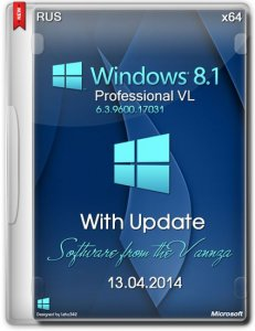 Windows 8.1 Professional VL with Update by Vannza (x64) (2014) [Ru]