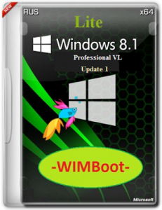 Microsoft Windows 8.1 Pro VL Update 1 x64 RU Lite WIMBoot by Lopatkin (2014) Русский