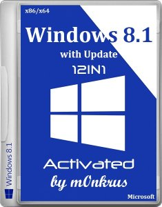 Windows 8.1 with Update -12in1- Activated AIO (x86-x64 ) by m0nkrus (2014) [RUSENG]