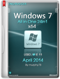 Windows 7 SP1 AIO 24in1 IE11 April2014 (x64bit) (2014) [ENG/RUS/GER]