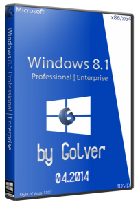 Microsoft Windows 8.1 with Update 4 in 1 STR by Golver 04.2014 1DVD (x86-x64) (2014) [Rus]