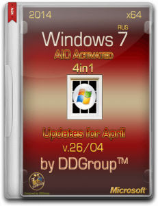 Windows 7 SP1 x64 4 in 1 DVD AIO Activated updates for April [v.26.04] by DDGroup� [Ru]