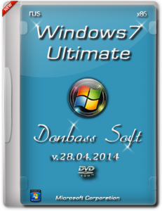 Windows 7 Ultimate SP1 Donbass Soft 28.04.2014 (x86) (2014) [Rus]