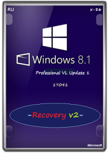 Microsoft Windows 8.1.17041 Pro VL Update 1 x86 RU Recovery v2 by Lopatkin (2014) Русский