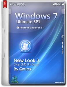 Windows 7 SP1 Ultimate New Look 3 by -=Qmax=- (x64/x32) (2014) [Rus]