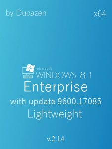 Windows 8.1 Enterprise with update 9600.17085 Lightweight v.2.14 by Ducazen (x64) (2014) [Rus]
