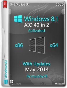 Windows 8.1 AIO 40in2 x86/x64 With Update May 2014 (ENG/RUS/GERUKR)