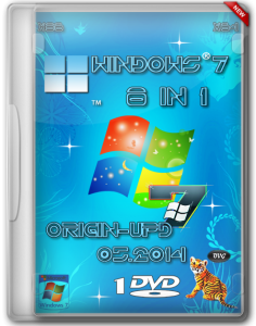 Windows 7 SP1 8 in 1 Origin-Upd 05.2014 by OVGorskiy 1DVD (x86-x64) (2014) [Rus]