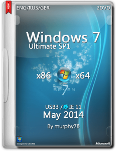Windows 7 SP1 Ultimate IE11 May (x86/x64) (2014) [ENG/RUS/GER]