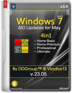 Windows 7 SP1 x64 4in1 DVD updates for May [v.23.05] by DDGroup™ & vladios13 [Ru]