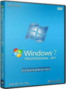Windows 7 Professional SP1 Elgujakviso Edition v25.05.14 (x86/x64) (2014) [Rus]