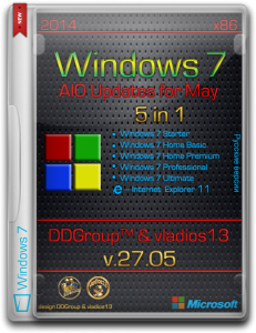 Windows 7 SP1 x86 5in1 DVD updates for May [v.27.05] by DDGroup™ & vladios13 [Ru]