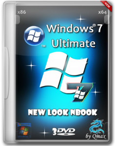 Windows 7 SP1 Ultimate New Look nBook by -=Qmax=- (x86/x64) (25.05.2014) [Rus]