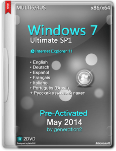 Windows 7 Ultimate SP1 Pre-Activated May2014 (x86-x64) (2014) [MULTI6/ENG/RUS]
