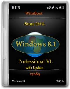 Microsoft Windows 8.1 Pro VL 17085 x86-x64 RU Store 0614 by Lopatkin (2014) Русский