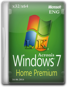 Windows 7 Home Premium Acronis (x32/x64) (2014) [ENG]