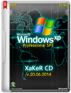 Windows XP Professional SP3 by XakeR CD v.20.06.2014 (x86) (2014) [Ru]