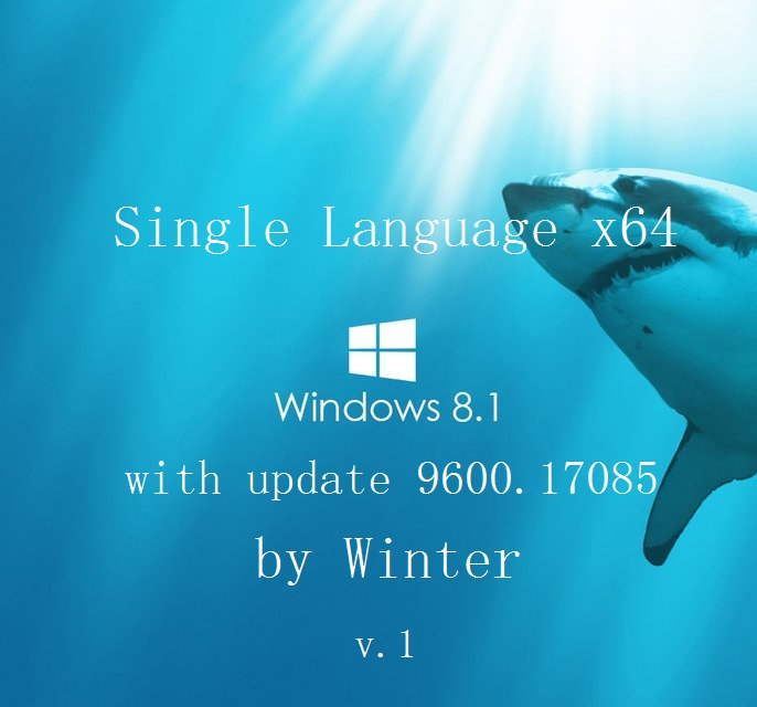 Windows 8.1 Single Language x64 with update 9600.17085 by Winter (2014) Русский