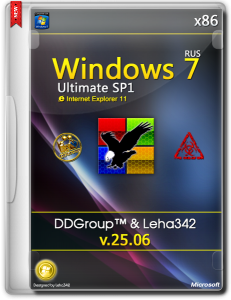 Windows 7 Ultimate SP1 x86 [v.25.06] by DDGroup™ & Leha342 [Ru]