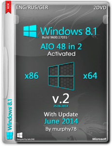 Windows 8.1 AIO 48in2 With Update June 2014 v.2 (x86-x64) (2014) [Eng/Rus/Ger]