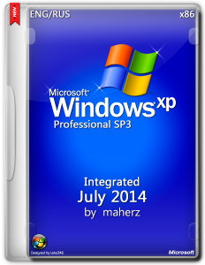 Windows XP Pro SP3 x86 Integrated July 2014 By Maherz v.5.1.2600 SP3 (2014) (x86) [MULTI|RUS]