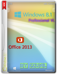 Windows 8.1 Profesioonal IZUAL Maximum + Office 2013 12.07.2014 (х32) (2014) [Rus]