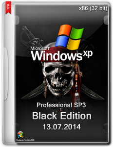 Windows XP Professional SP3 Black Edition v 13.07.2014 (2014) (x86) [Rus]