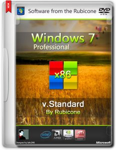 Windows 7 SP1 Professional v.Standard by Rubicone (2014) (x86) [Ru]