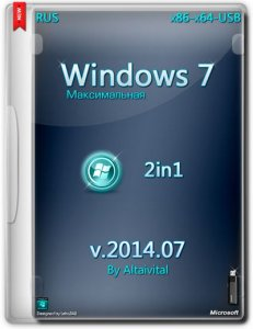 Windows 7 Максимальная SP1 USB by altaivital (x86-x64) (2014) [Rus]