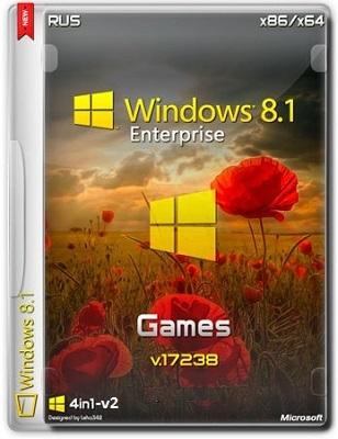 Windows 8.1 Enterprise 17238 x86-x64 RU Games v2 by Lopatkin (2014) Русский