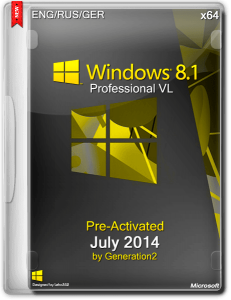 Windows 8.1 Professional VL July 2014 By Generation2 6.3.9600 (x64) (2014) [RUS|MULTI]