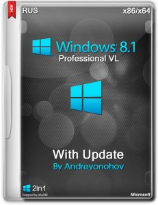 Windows 8.1 Professional VL with Update 2in1 DVD by Andreyonohov (x86/x64) (2014) [RUS]