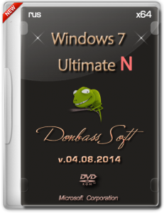 Windows 7 Ultimate N SP1 v.04.08.2014 by Donbass Soft (x64) (2014) [Rus]