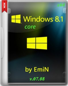 Windows 8.1 Core by EmiN v.07.08 (x64) (2014) [Rus]