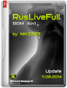 RusLiveFull RAM 4in1 by NIKZZZZ CD/DVD (11.08.2014)
