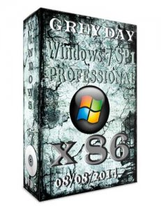 Windows 7 Professional SP1 GREY DEY by novik (x86) (2014) [Rus]