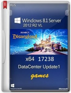 Microsoft Windows 8.1 Server 2012 R2 VL DataCenter 17238 x64 RU Games 0814 by Lopatkin (2014) Русский