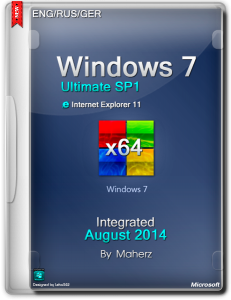 Windows 7 Ultimate SP1 Integrated August 2014 By Maherz (x64) (2014) [Multi|Rus]