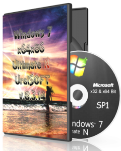 Windows 7 Ultimate N UralSOFTv.8.3.14 (x86-x64) (2014) [Rus]
