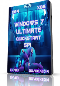 Microsoft Windows 7 Ultimate SP1 • QuickStart • 08.2014 (x86 x64) (2014) [RUS|ENG]