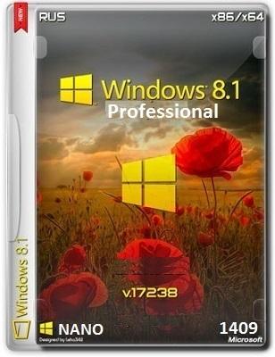 Windows 8.1 Pro VL 17238 x86-x64 RU NANO 1409 by Lopatkin (2014) Русский