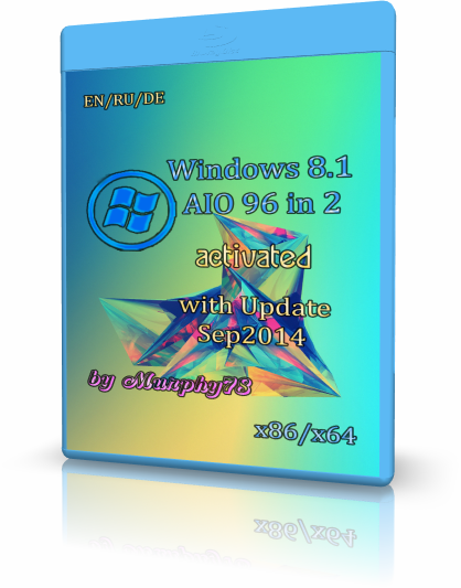 Windows 8.1 AIO 96in2 With Update September 2014 by Murphy78 (x86-x64) (2014) [Rus]