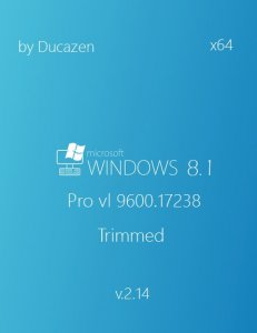 Windows 8.1 Pro vl 17238 Trimmed v.2.14 by Ducazen (x64) (2014) [Rus]