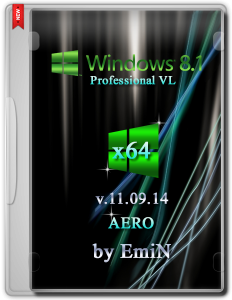 Windows 8.1 Pro AERO by EmiN (x64) (2014) [Rus]