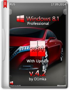 Windows 8.1 Professional Update by D1mka v4.6 (x64) (2014) [Rus]