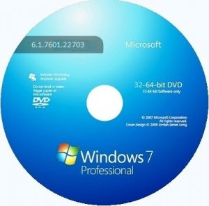 Microsoft Windows 7 Professional VL SP1 6.1.7601.22703 x86-х64 RU 6x1 1409 by Lopatkin (2014) Русский