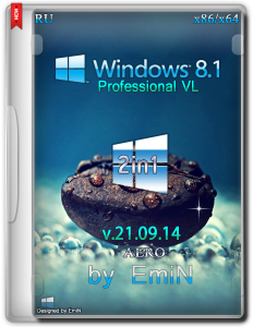 Windows 8.1 Pro Aero 2in1 by EmiN (x86-x64) (2014) [Rus]