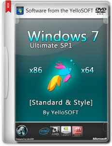 Windows 7 Ultimate SP1 Standard & Style by YelloSOFT (x86-x64) (2014) [Rus]